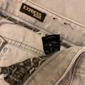 Light grey Express MIA fit super skinny jeans